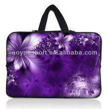 Beautiful flower design Neoprene Laptop Sleeves/bag with hidden Handle(factory)