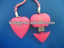 Best Seller!Heart Shaped Plastic USB Flash Memory Stick,USB Flash Memory Drive Plastic USB Flash Memory