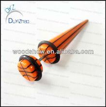 hot sale resin fake taper earring fake ear stretchers ear plug stretcher body piercing jewelry