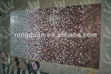 glass mosaic color variation design pattern as decorative material for bathroom tile