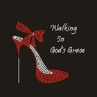 Beautiful high heel shoes for custom rhinestone iron on transfer