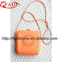 Wholesale Factory Direct Designer Handbag with 100%Food-Grade Silicone Material,Orange