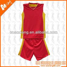 JB29 2013 Red and yellow Basketball Uniform