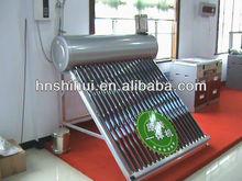 Tubo de vacio tipo calentador de agua solar
