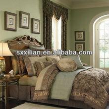 elegant embroidered linen fabric duvet cover set