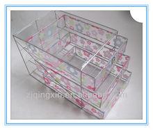 A4 PAPER metal wire &plastic storage drawer