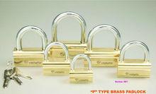 """""""P"""" Type Brass Padlock (061)"""