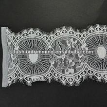 Fashion white fabric lace