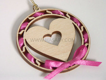 Valentines Laser Cut Wood Love Hanging Ornament