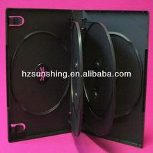 22MM MULTI BLACK DVD CASE FOR 6DVDS media packaging DVD logo outer sleeve clear film