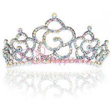 colorful rhinestone crowns and tiaras bridal hair pieces diadem