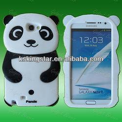 for samsung galaxy note2 n7100 3D bear panda silicone case
