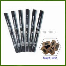 Black Octagonal Wooden Carpenter Pencil