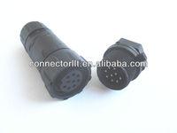 m14 ip68 waterproof 9 pin connector