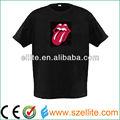 2013 nova moda levouiluminado brilho camiseta