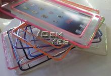 Higt Quality,Colors Soft clear Transparent TPU Bumper Frame Case For Mini iPad