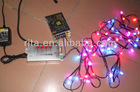 100pcs flat type rgb pixel node,DC5V,WS2811IC+T-1000B sd card controller+5V/60W power supply kit;with all black wire