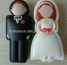 wedding usb stick Bridegroom flash memory bride pen drive