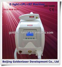 2013 nuovo stile e- light+ipl+rf macchina www.golden- laser.org/e- capelli chiari effetti collaterali rimozione
