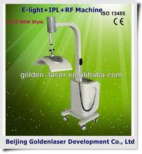 www.golden-laser.org/2013 New style E-light+IPL+RF machine eraser hair remover