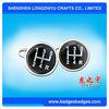 Fancy Gold Plated Cuff Link Refined Black Cufflink With Customer Logo
