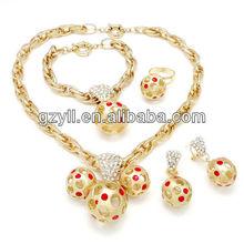 crystal football ball jewelry brazilian golden grass