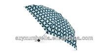 Blue Dots in Dots Holiday Lites Gift Umbrella
