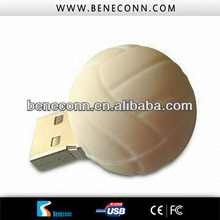 White ball usb disk bar flash drives 16gb