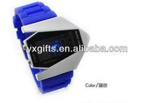 2012 Selling Hot Fashion Plane Shape Silicon Led wristwatch(YX-SP001)