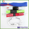 Personnalisé bracelets en tissu bon marché, bracelet fil