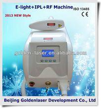 2013 New style E-light+IPL+RF machine www.golden-laser.org/ spot size15*50mm8*40mm for option