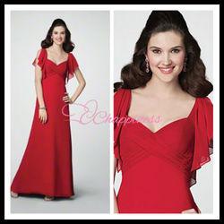 chaeap chiffon designer red dresses