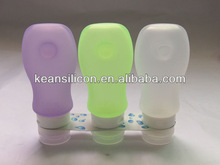 Silicone Travel Bottle Manufacture/OEM China Leakproof Squeezable Smart Silicone Bottle/New Trend Packaging Bottle