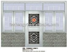 stainless steel sliding door with window