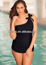 Just Arrivals Sexy Black One Shoulder Plus Size Swimwear Swimsuit