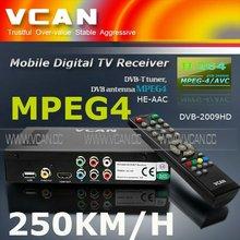 Récepteur Satellite star track DVB-T2009HD-16 portable dvb - t récepteur tv box avec USB mise à niveau, 2 tuner, 250 KM/H vitesse pour voiture