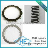 Motorcycle Multi-plate wet FIBER clutch plate CG400-CLUTCH-KITS