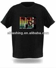 Popular Music DJ Flashing T-shirt DJ panel