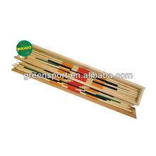 Mikado pick-up sticks game wooden box packing