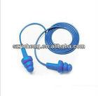 bullet shape ear plug,hanging ear plug soundproof earplug with pp tube ,silicone earplug