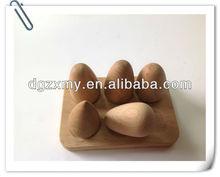 huevos decorativos de madera de juguete
