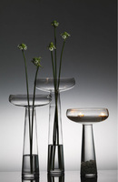 Modern Style Hand Made Clear Glass Vase