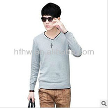 IN AUTUMN 2013 HAN FASHION TRIMMING WHITE CONTRAST COLOR DESIGN KNITTED CARDIGAN