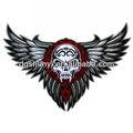 rock skull bordados motociclistas tatuagens