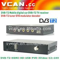 VCAN 2013 smarter DVB-T2C digital car tv receiver box-portable digital tv