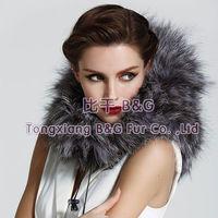 BG23217 Genuine Silver Fox Fur Neckwear OEM Wholesale/Retail