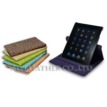 2013 new products 360 degree rotating book leather case for mini ipad