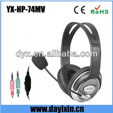 Computer 2.5mm headset 4-pole plug computer headphone with microphone