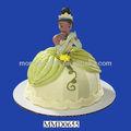 prenses ve dekoratif kek üst kurbağa tasarım