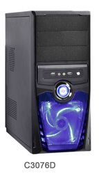 Hercules ATX Mid Tower Steel PC Computer Case, Black